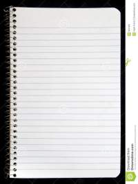 Blank Page Of Spiral Notebook Stock Image - Image: 6551861