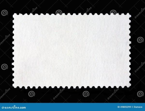 Blank postage stamp stock image Image of black frame