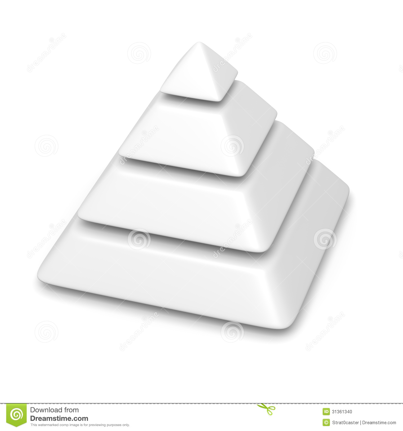 blank pyramid diagram 5 gm wiring diagrams for dummies 4 levels stack stock illustration image
