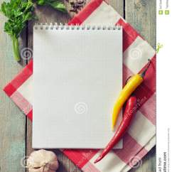 Kitchen Food Preparation Table Cabinets For Mobile Homes Blank Recipe Book Stock Images - Image: 34734434