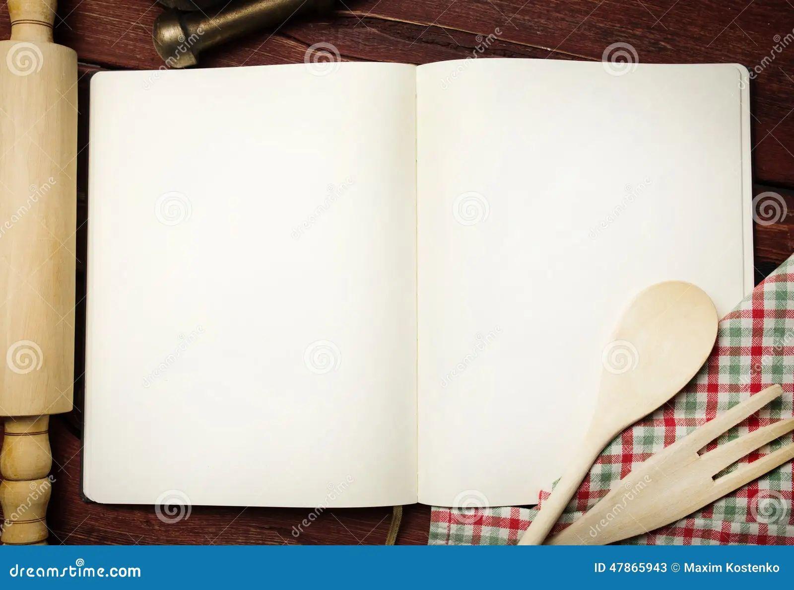 recipe books blank