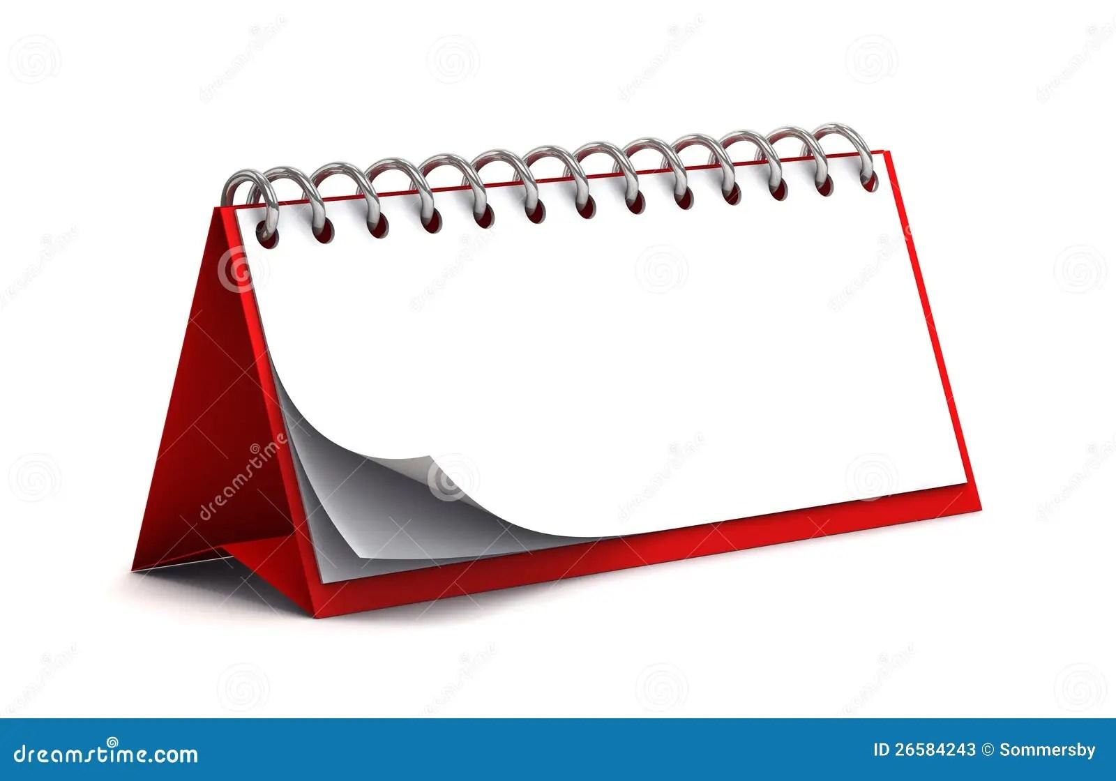 Blank Red Desk Paper Calendar Stock Photos  Image 26584243
