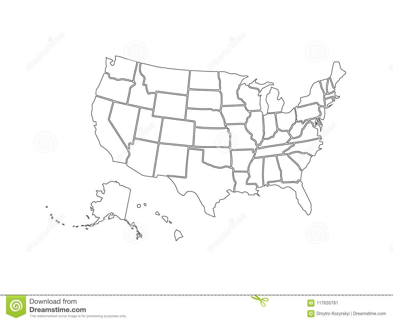 Blank United States Template
