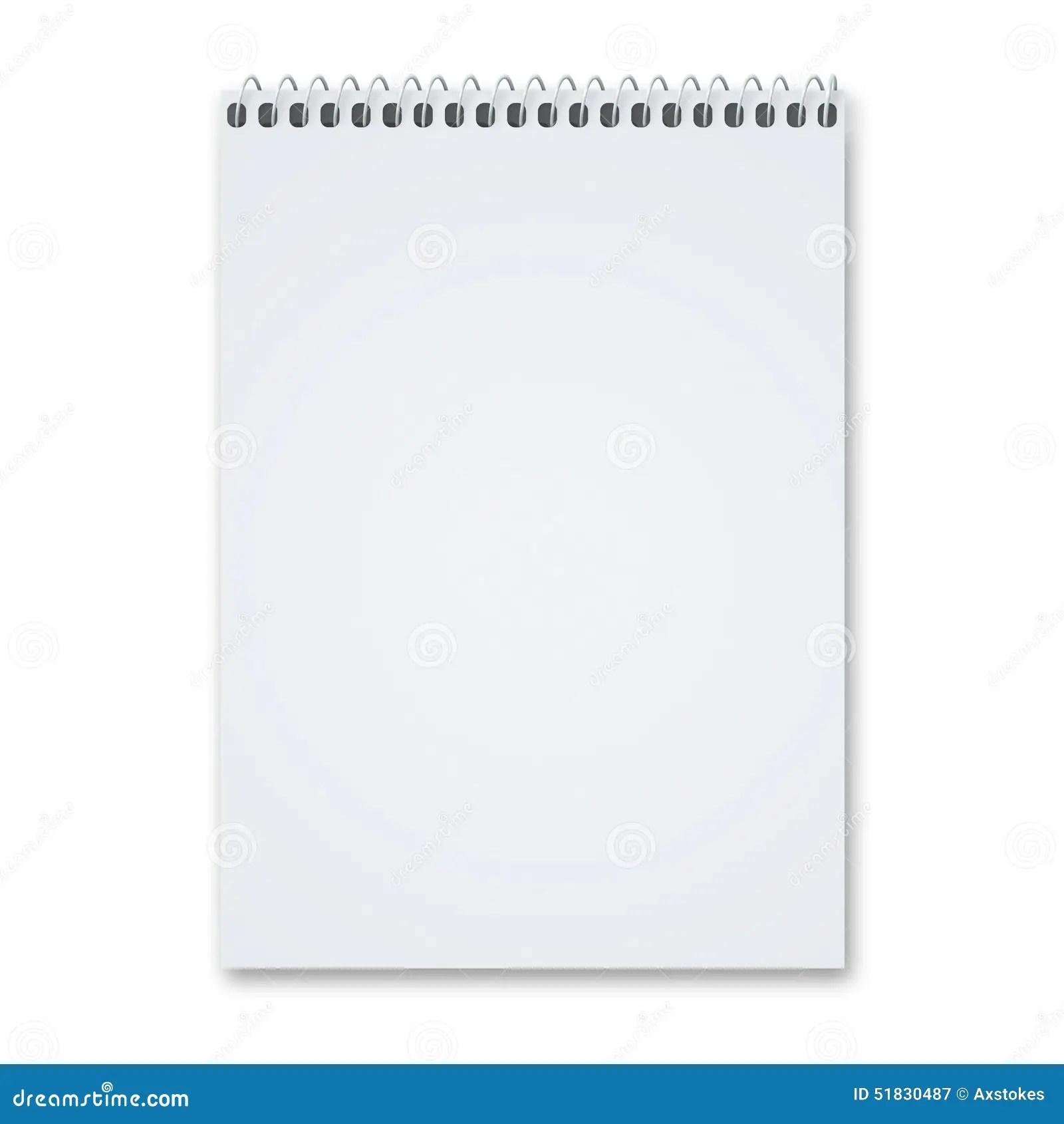 Blank Sketch Pad Stock Image Image Of Page Circle