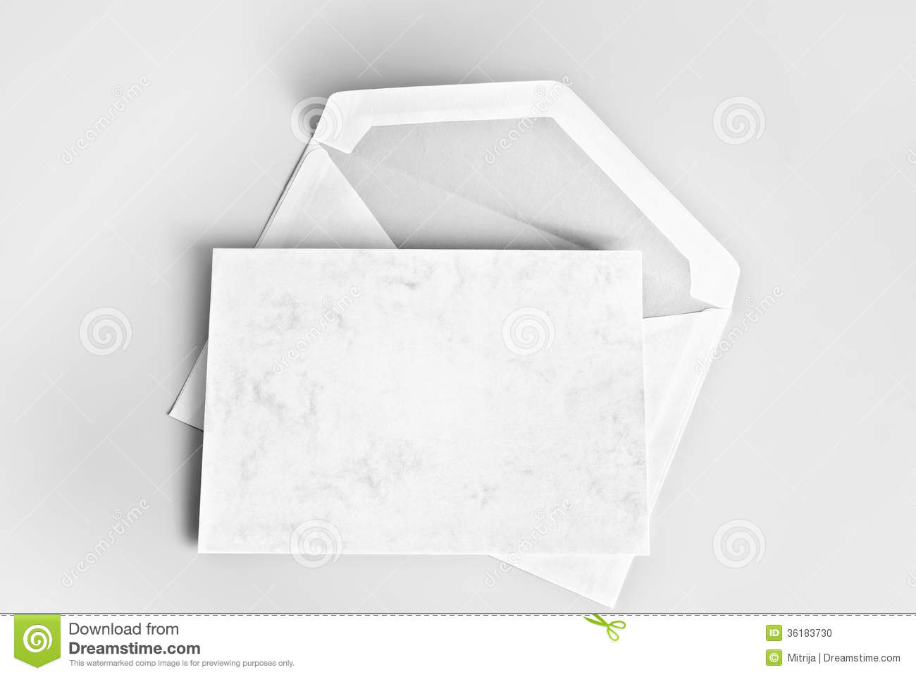 Blank Stationery Card And Envelope Stock Photo Image