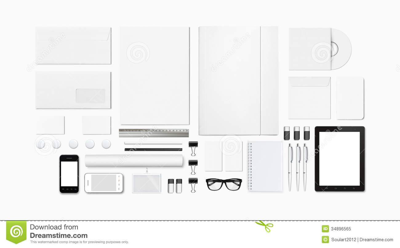 Blank Stationery / Corporate ID Template Royalty Free