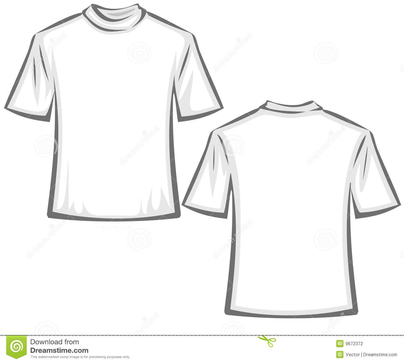 Blank T Shirts Illustration Stock Vector