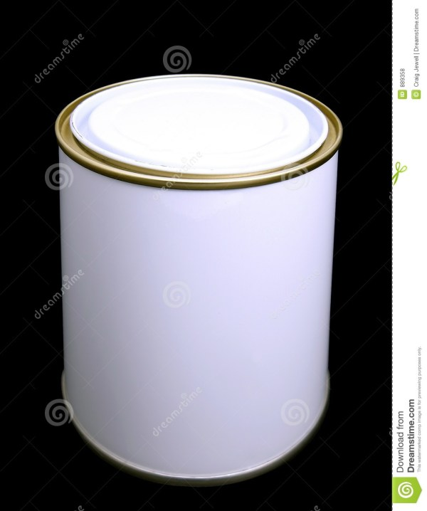 Blank White Paint Tin With Clipping Path Stock - 889358
