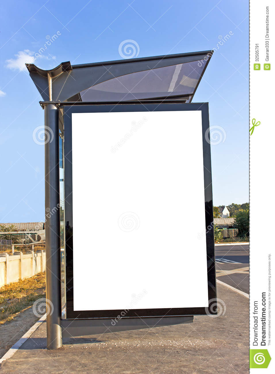 A Blank White Sign Stock Image Image 32505791