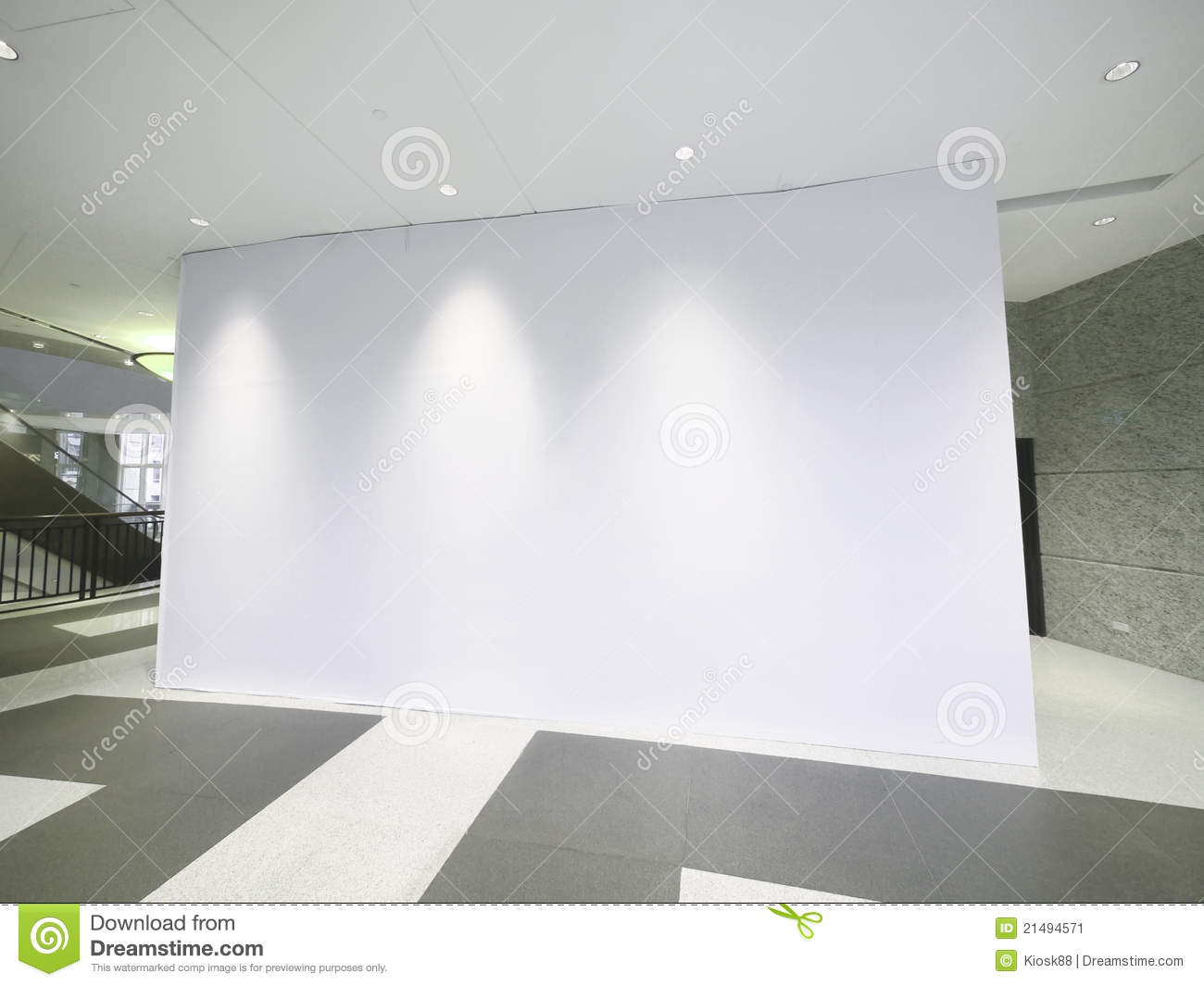 Blank White Wall Stock Image  Image 21494571