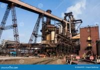 Blast Furnace Plant Stock Photo