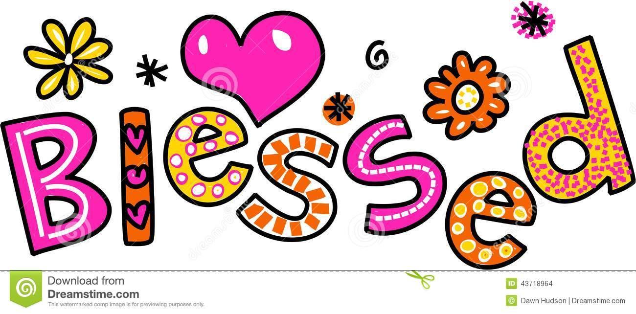 blessed cartoon text clipart