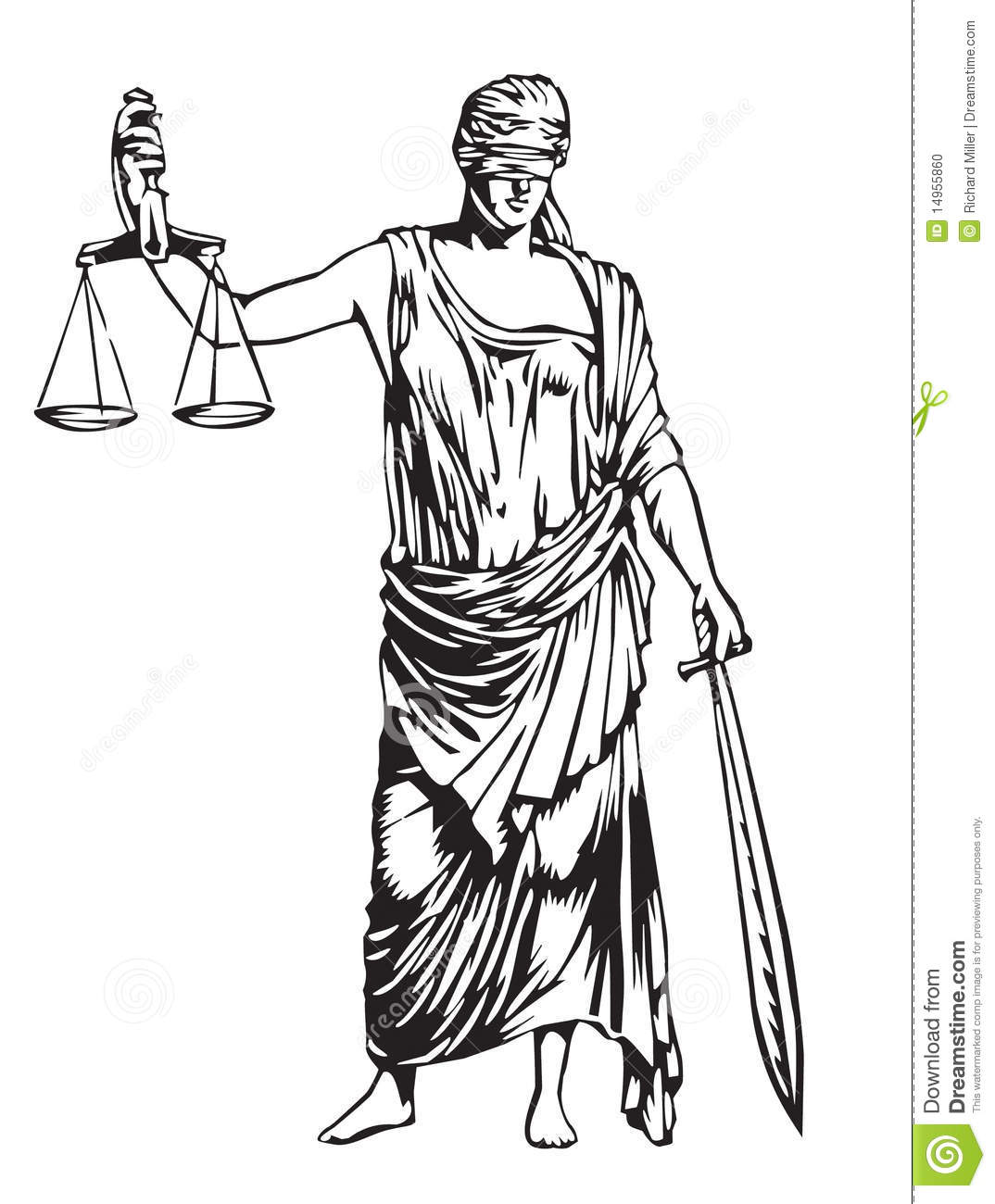 Blind Justice Stock Vector Illustration Of Scales Toga