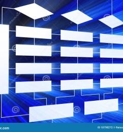 3d blue business block diagram [ 1300 x 1065 Pixel ]