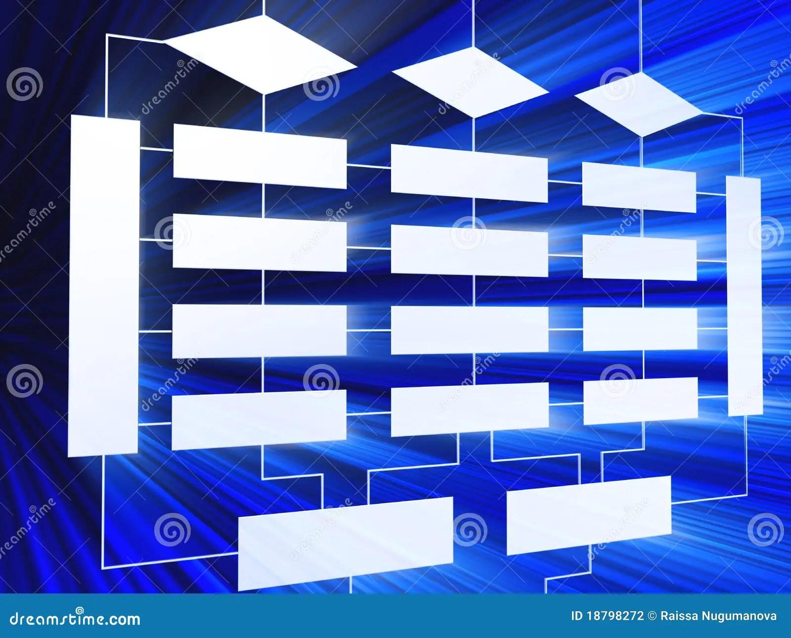 hight resolution of 3d blue business block diagram