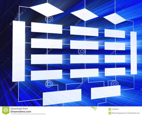 small resolution of 3d blue business block diagram