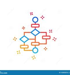 block diagram line icon path scheme sign algorithm symbol gradient design elements linear block diagram icon random shapes vector [ 1600 x 1383 Pixel ]