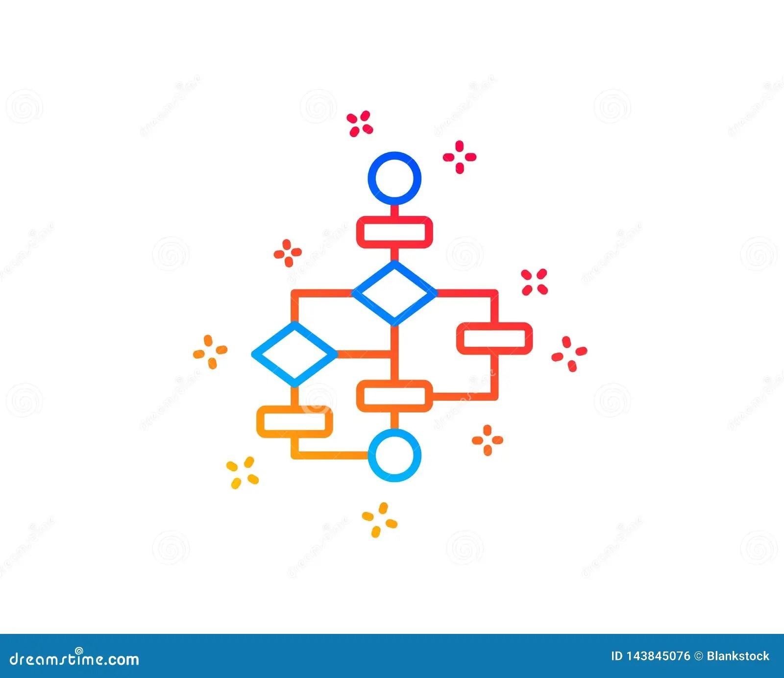 hight resolution of block diagram line icon path scheme sign algorithm symbol gradient design elements linear block diagram icon random shapes vector