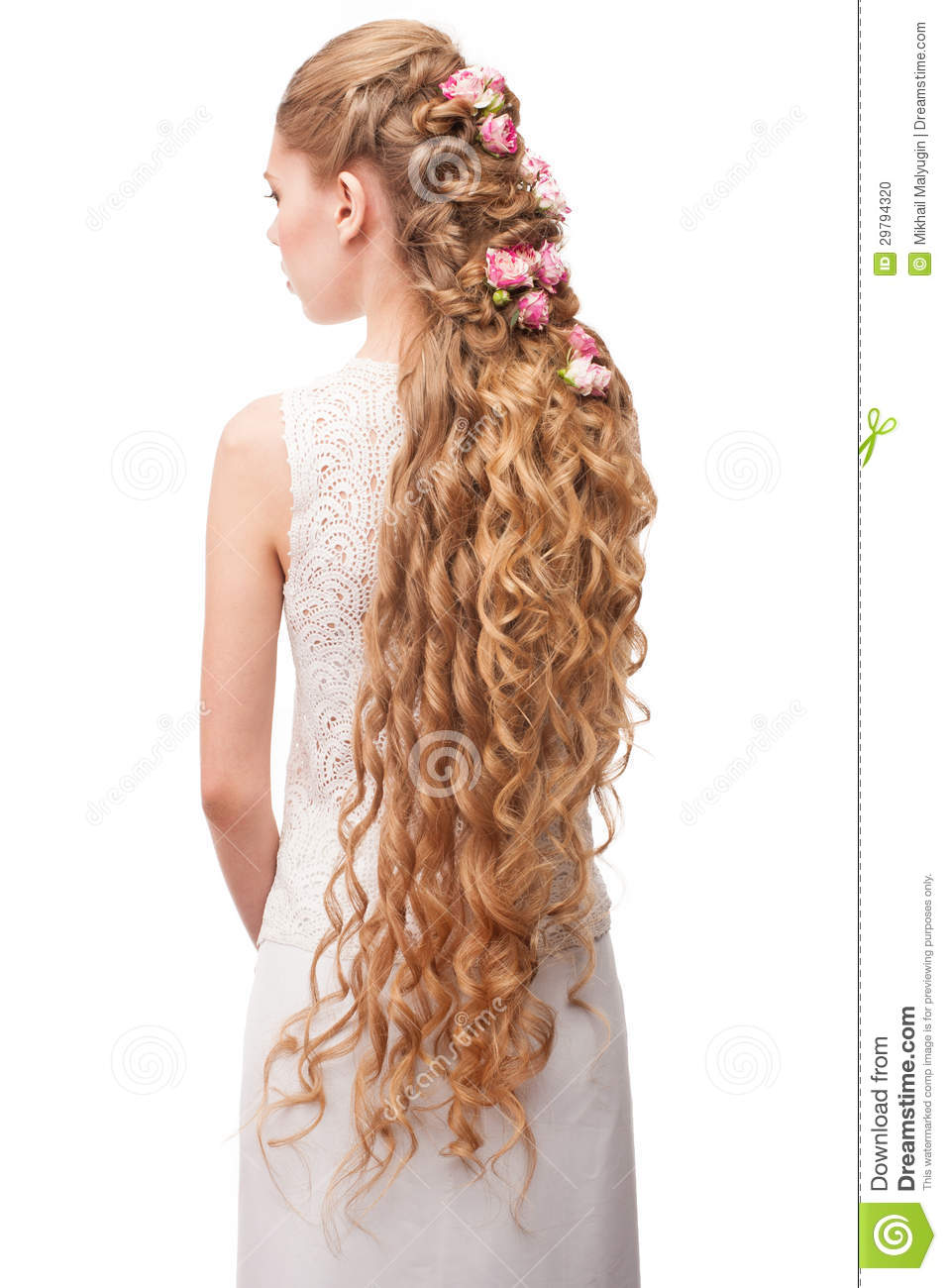 Woman With Curly Long Hair Stock Photo Image Of Hair