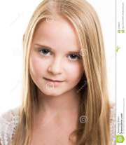 blond young teenage girl dressed