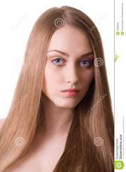 blonde beautiful woman with long