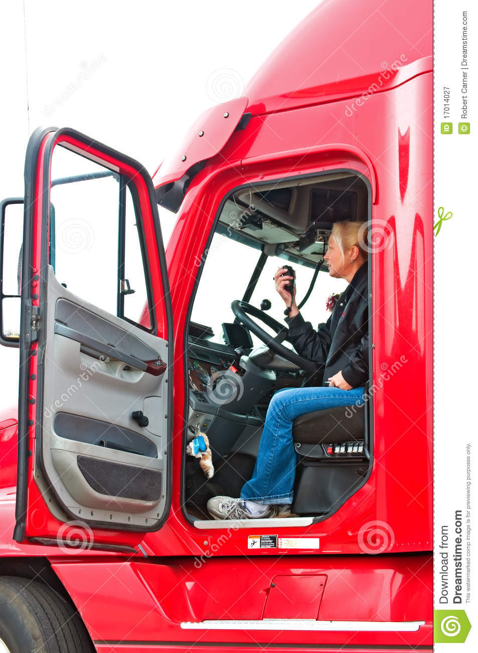 Blonde Woman Truck Driver Royalty Free Stock Photography  Image 17014027