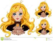 blondy girl stock illustration