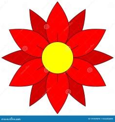 Blossom Icon Red Flower Clipart Stock Vector Illustration of flora seasonal: 141459070