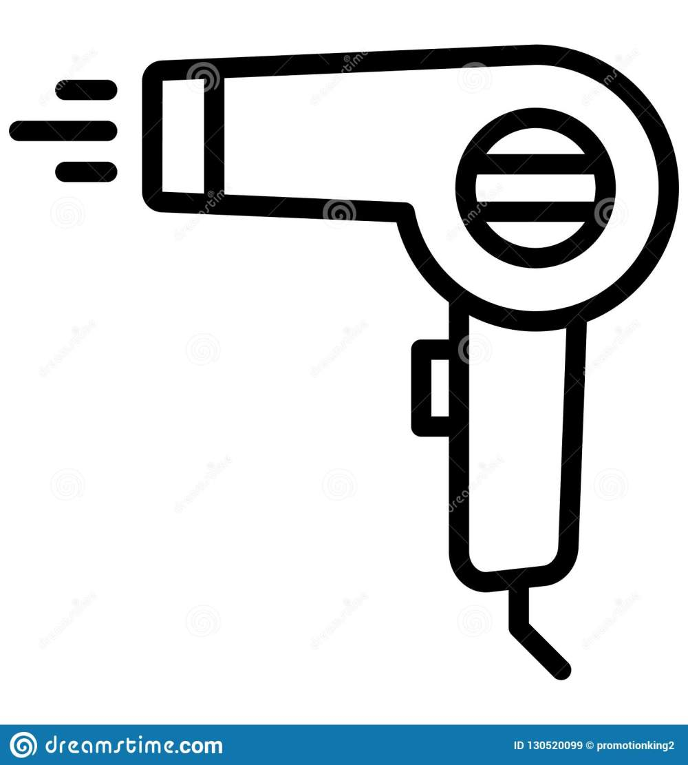 medium resolution of blow dryer hair dryer isolated vector icon that can be easily edited in any size