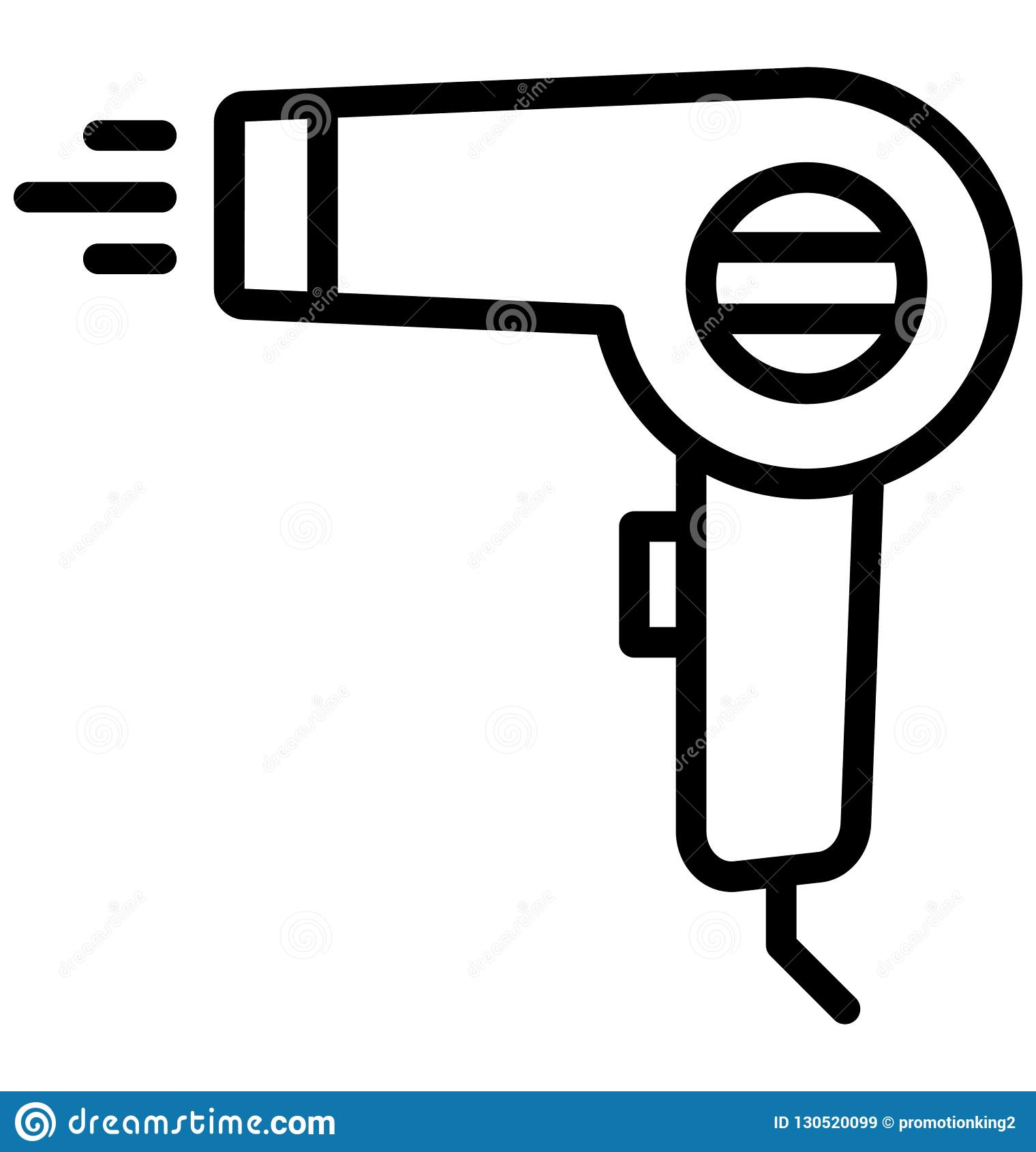 hight resolution of blow dryer hair dryer isolated vector icon that can be easily edited in any size