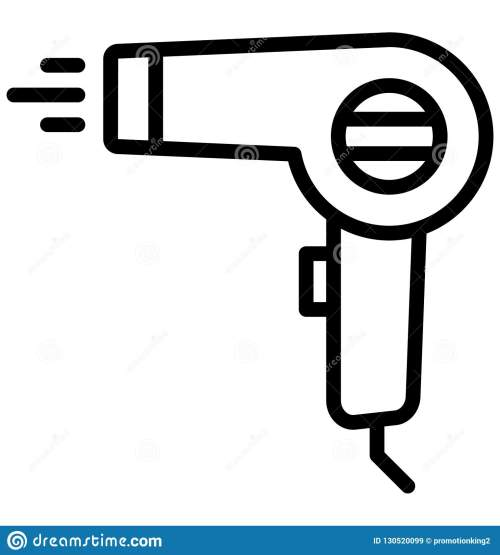 small resolution of blow dryer hair dryer isolated vector icon that can be easily edited in any size