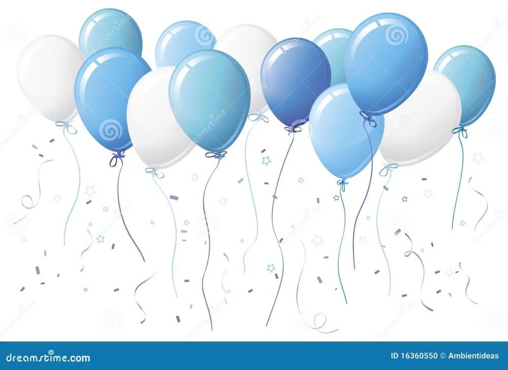 medium resolution of blue balloons with confetti