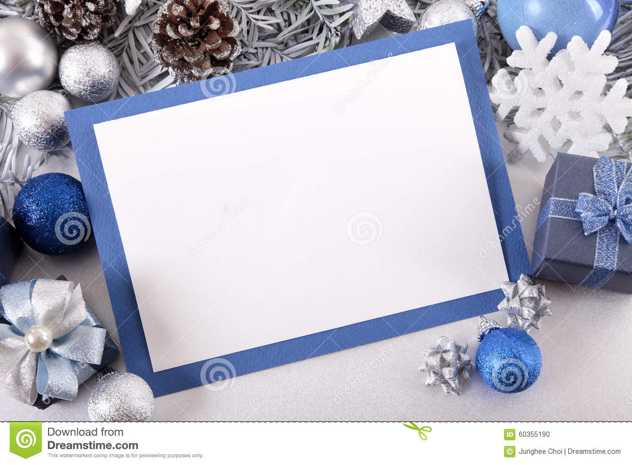 blank christmas invitation