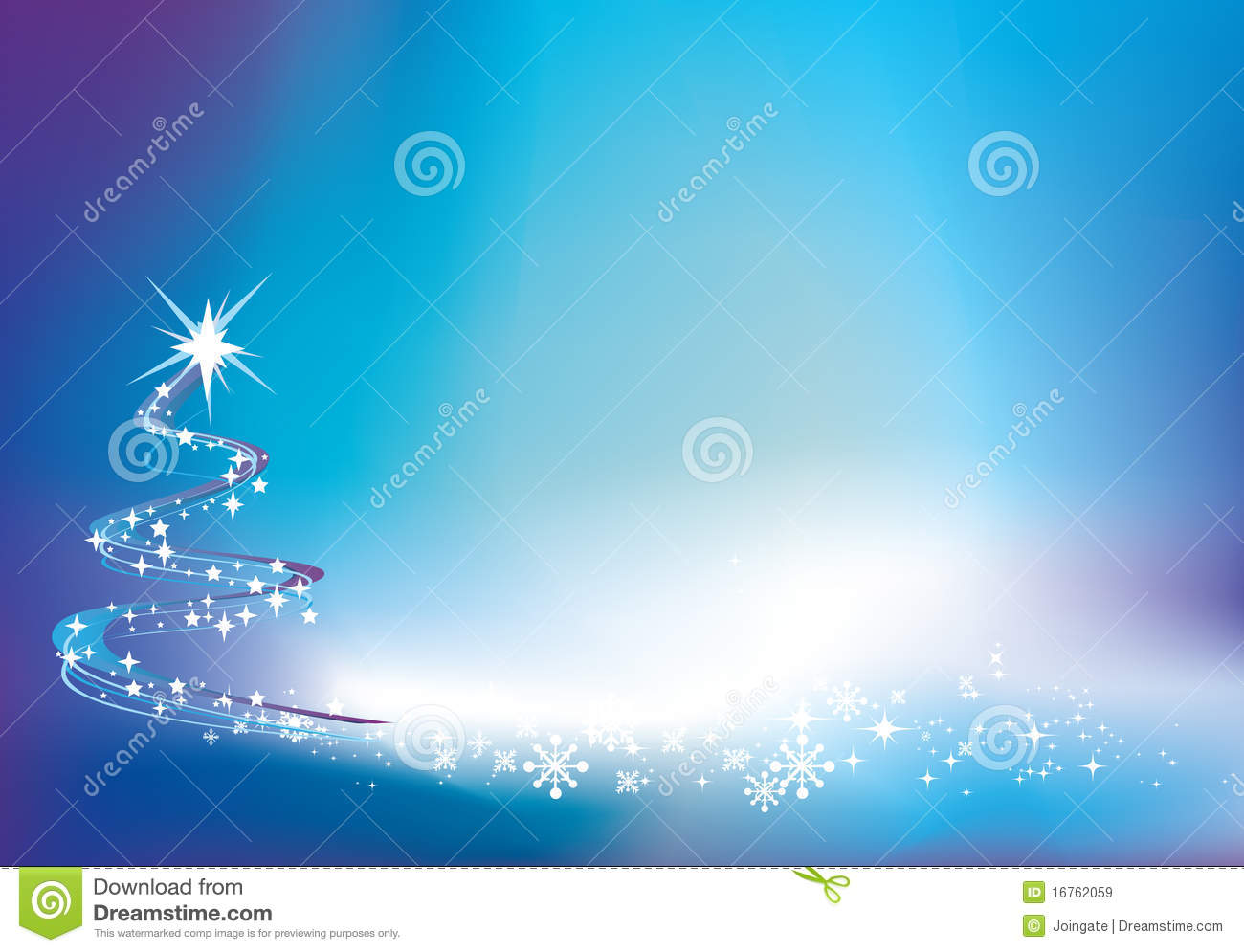 Blue Christmas Twinkle Background Royalty Free Stock