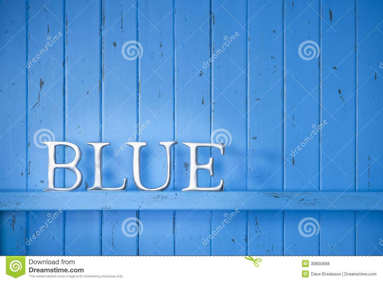 Blue Color Word Background Stock Photo