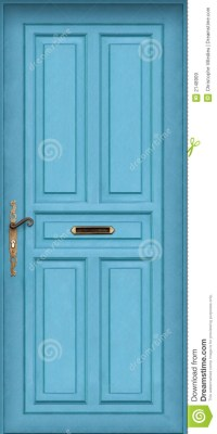 Blue Door - With Letter Box Royalty Free Stock Images ...