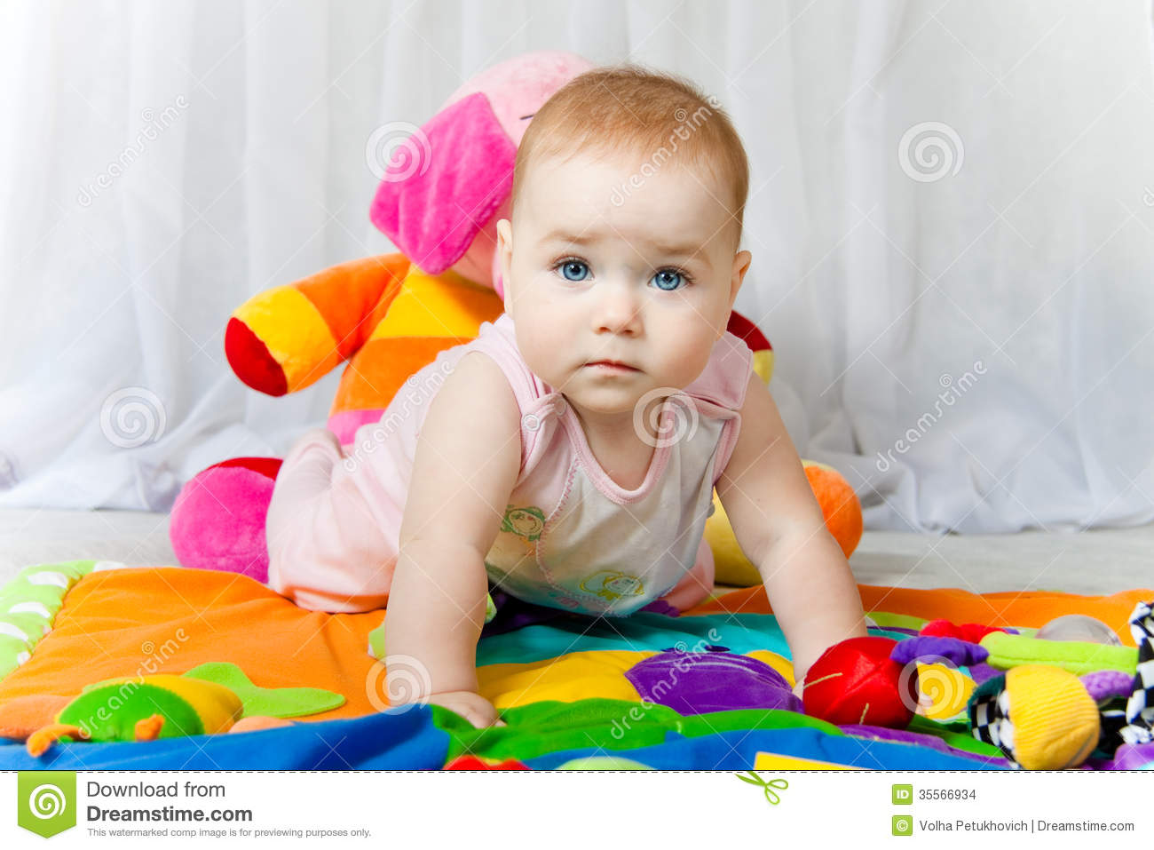 Blue Eyes Cute Baby Stock Images  Image 35566934