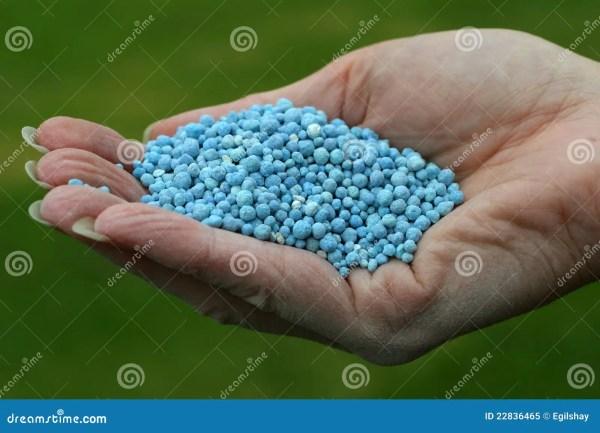 Blue Fertilizer Royalty Free Stock - 22836465