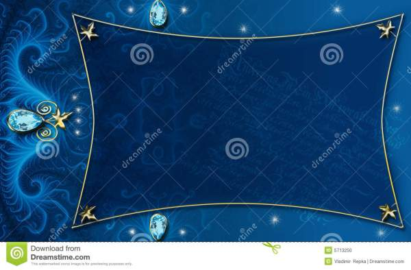 Blue-gold Background Layout Stock - 5713250