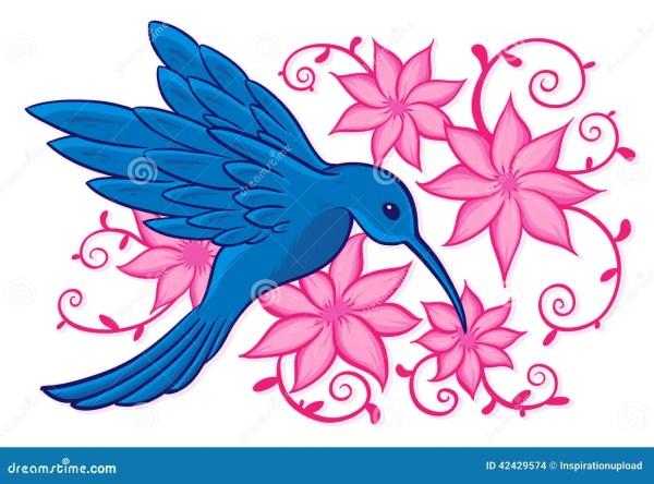 blue hummingbird stock vector