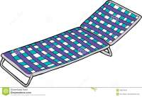 Blue Lawn Chair On White Stock Illustration - Image: 49263448