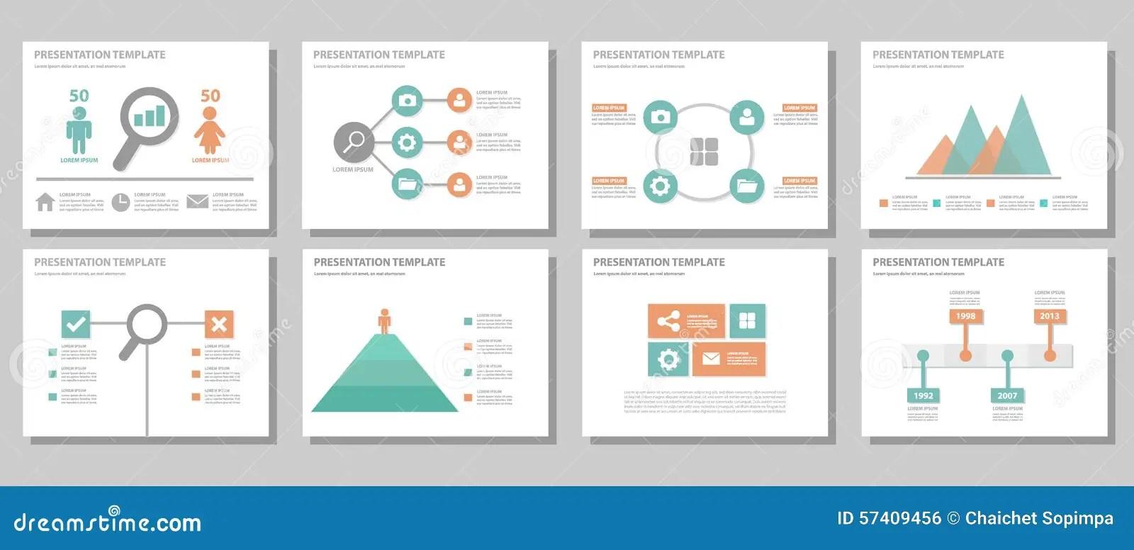 Blue Multipurpose Presentation Template Flat Design Stock