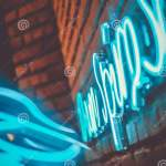 Blue Night Lights With Reflection Editorial Photo Image Of Light Aesthetic 164240186