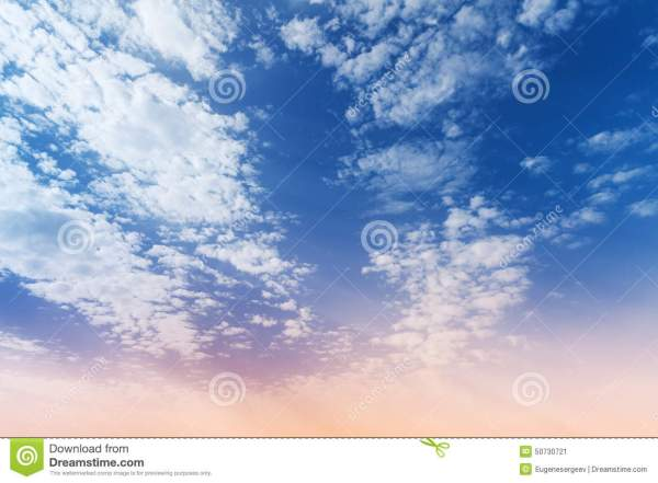 Blue Pink Gradient Cloudy Sky Background Stock Images