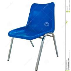 Lifetime Plastic Chairs Philippines Side Blue Chair On White Background Stock Photo Image