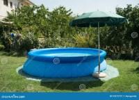 Blue plastic pool stock image. Image of rest, pool ...