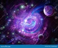 Blue-purple nebula stock image. Image of scifi, high ...