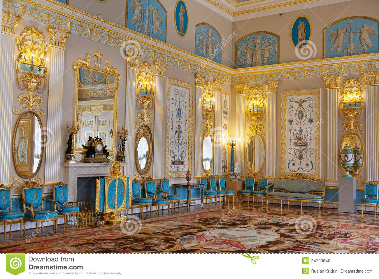 Blue Room In The Catherine Palace Stock Photo Image