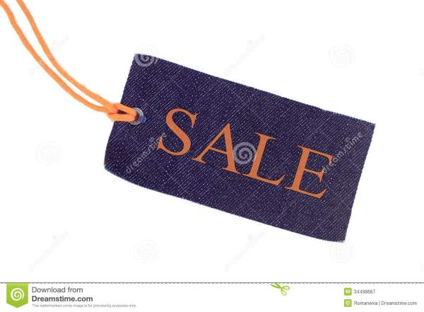 Blue Tag Isolated Royalty Free Stock