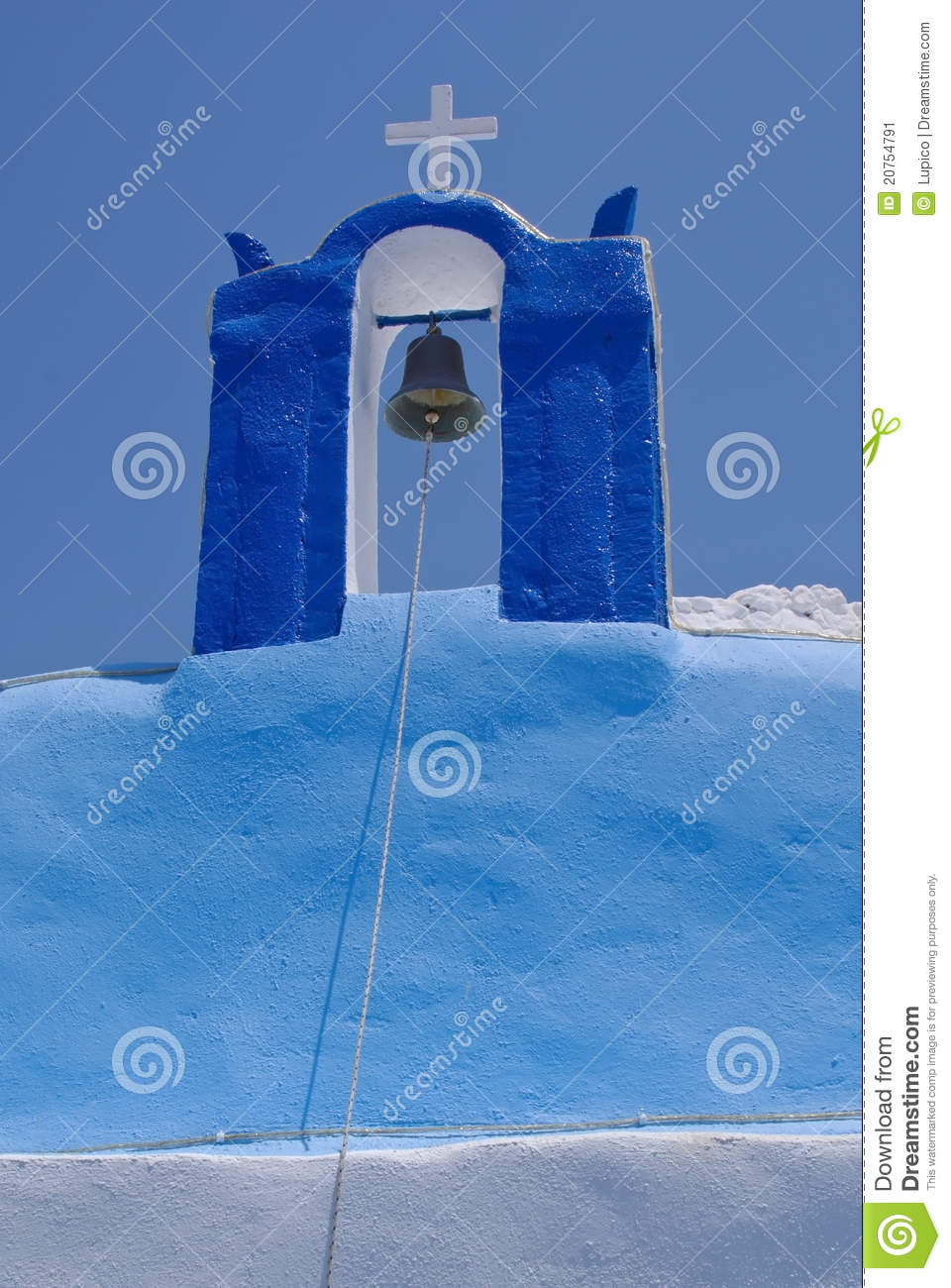 Blue Santorini stock image. Image of saturated. cyclades - 20754791